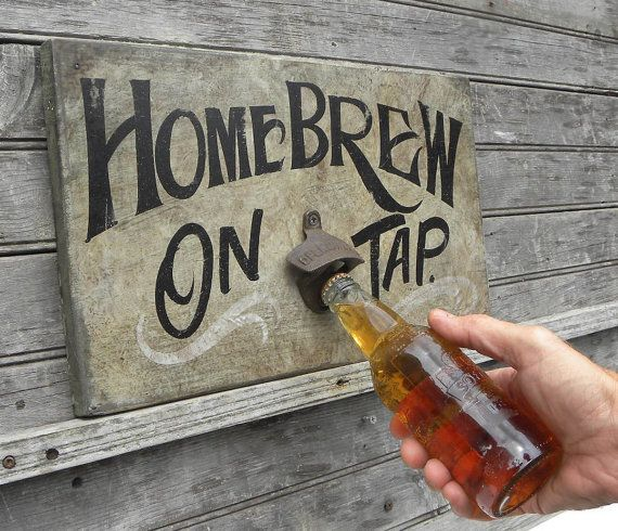 Home Brew beer Sign BAR SIGNhand by ZekesAntiqueSigns on Etsy, $75.00