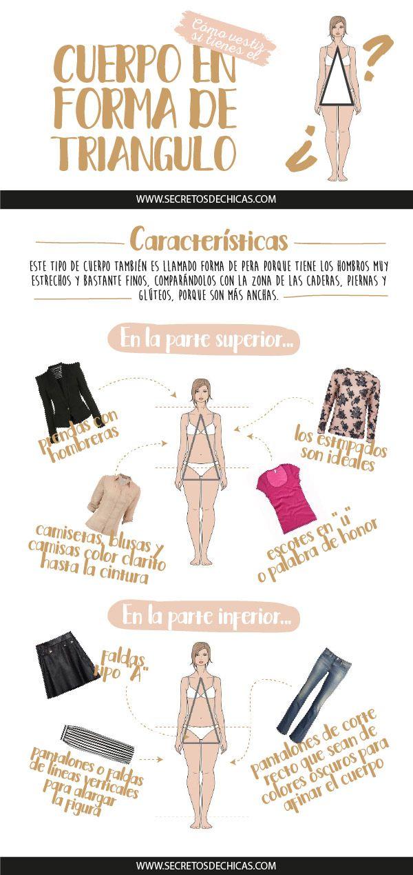Cómo vestir si tienes el cuerpo en forma de triángulo. ¡No os perdáis los consejos de hoy! Espero que os sirvan de mucha ayuda.