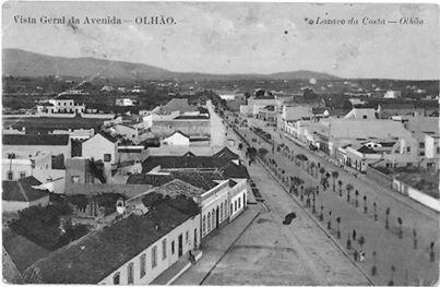Avenida in Olhao, Portugal.