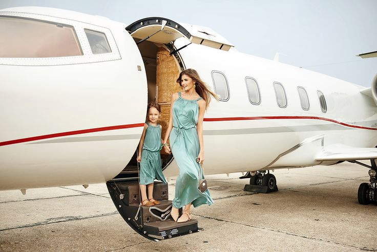 Collection Bon Voyage by The Same #turquoisedress #maxidress #elegant #extravagance #aircraft