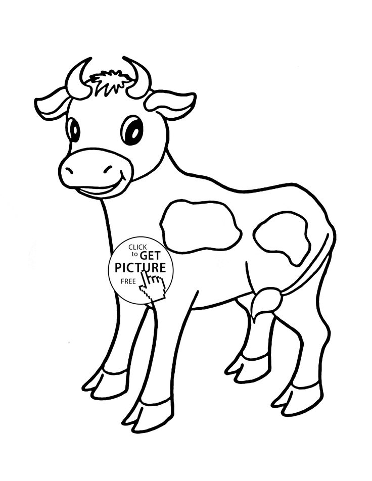 little cow coloring page for kids animal coloring pages printables free wuppsycom