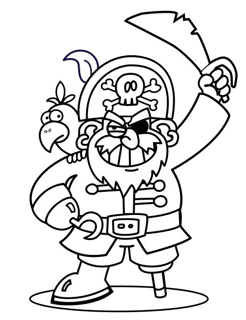 pirate coloring pages and crafts