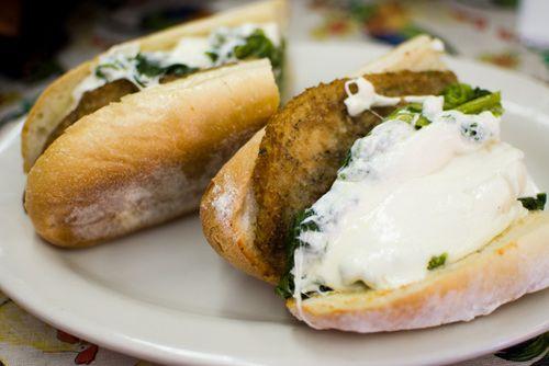 and mozzarella sandwich recipes grilled eggplant broccoli rabe and ...