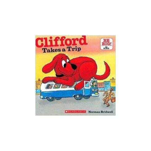 Clifford se va de viaje  Solo cuando su familia se va de vacaciones sin él, Clifford, el perro rojo gigante, supera el cemento húmedo, atascos de tráfico, y puentes de peaje para reunirse con ellos en las montañas.