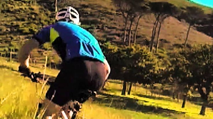 Mountain biker gets taken out by WWF PANDA - CRAZY footage - only in Africa