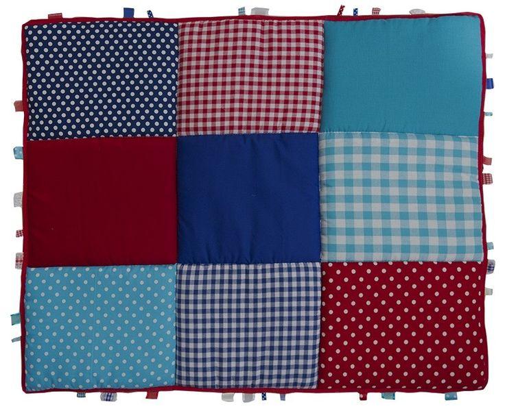 Boxkleed / Speelkleed: Rood Donkerblauw