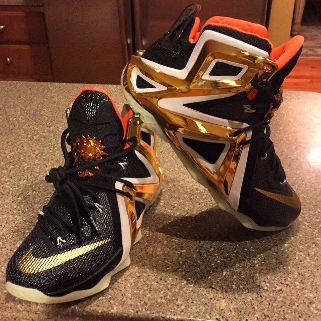 NIKEiD LeBron XII 12 Elite Black/Orange