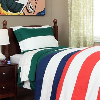 cabana boys striped 600 thread count duvet cover set overstock shopping the best prices on kidsu0027 duvet covers