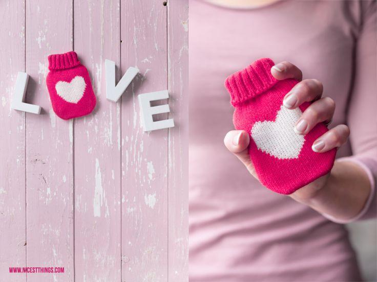 Taschenwaermer Mini Waermflasche Herz