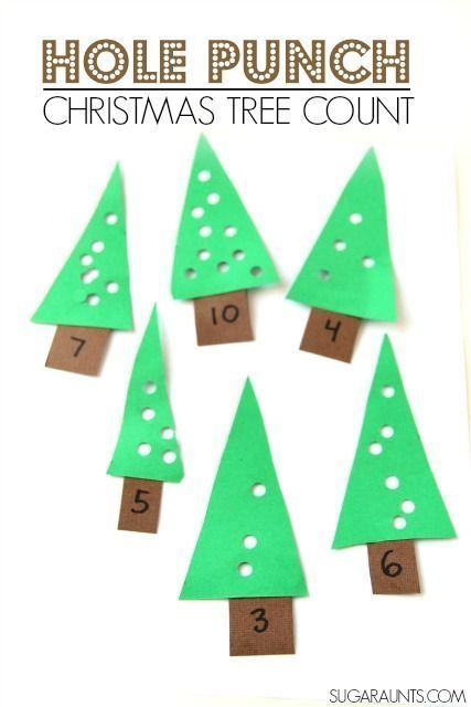 Christmas tree busy bag and proprioception fine motor counting activity for kids.