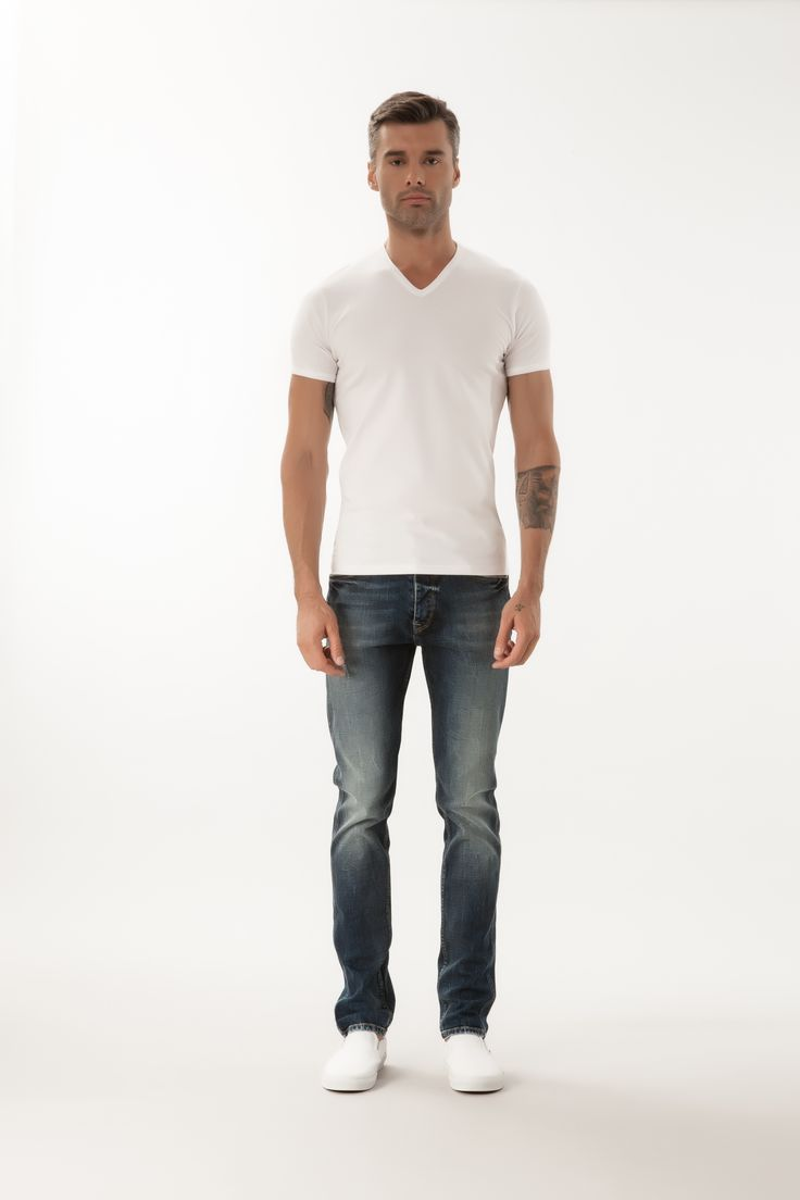 Blake / High Waist Slim Tapered #denim #CrossJeans