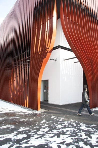 Nebuta House by molo design - I like how this shows the inside just a little bit.
