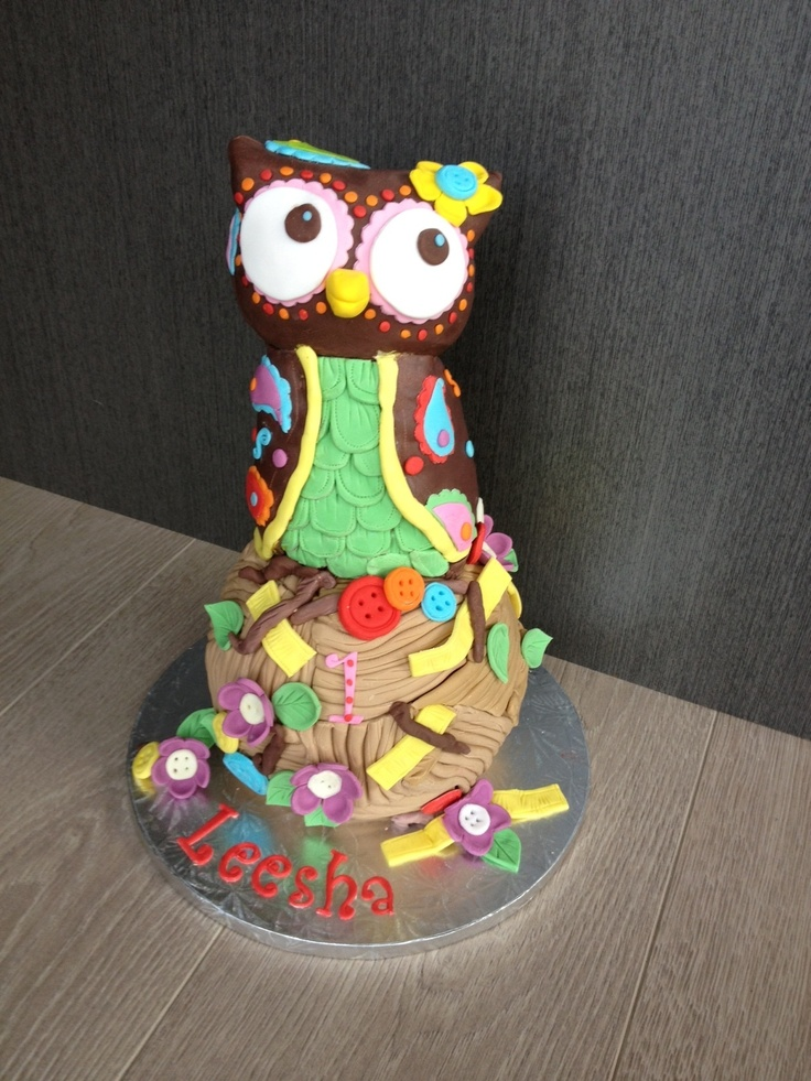 Owl Cake birthday party girl boys kids kid chil children Owls Owl hibou gateau