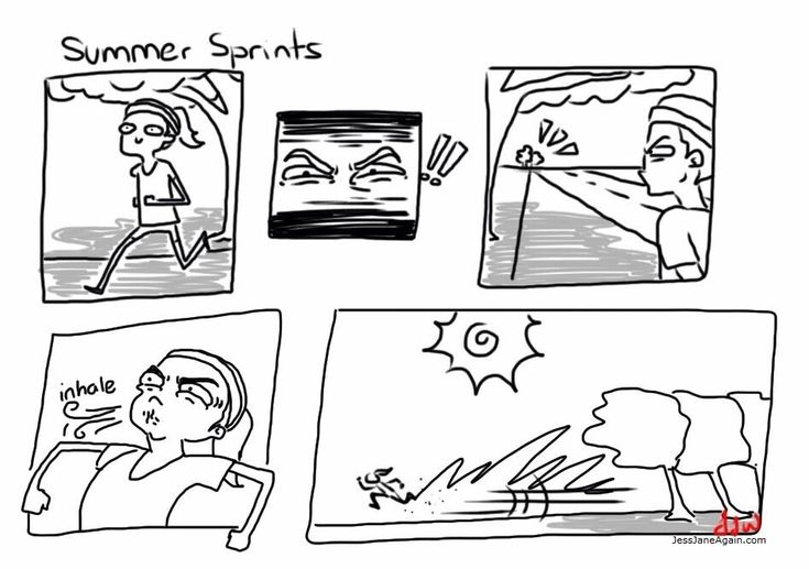 When you're pasty, summer is a difficult time. Staying fit is especially tough and requires strategic planning. Stay out of the sun! [View comic]