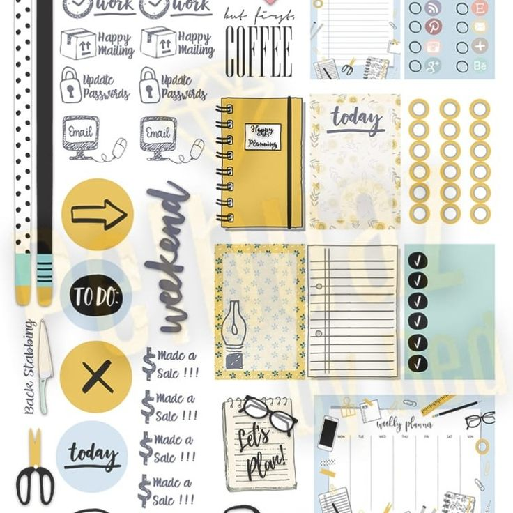 Free small business is fun planner weekly sticker kit
