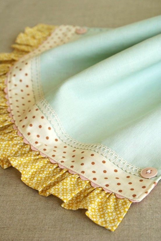 ♥ a beautiful way to finish a tea towel or a baby blanket @ DIY Home Cuteness - Craft ~ Your ~ Home