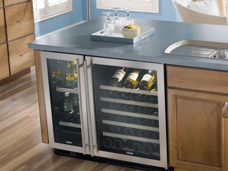 Kitchen Built In Wine Coolers Reviews Undercounter Wine Refrigerator Stainless Steel Door Bright Led Lighting 5 Glide Out Wine Racks Dual Zone 50 Bottle Capacity Kitchen Island Refrigerator Kithen Appliances.jp Cool Built In Wine Cooler