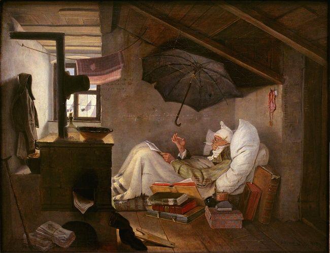 """""""Бедный поэт"""", 1839, Карл Шпицвег"""