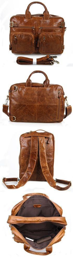 Image of Quality Genuine Leather Laptop Briefcase/tote/shoulder Bag Laptops and Tablets Briefcase