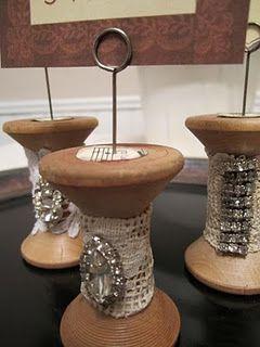 Altered vintage spools.