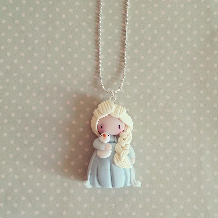 Collier Princesse au doudou - Elsa et Olaf