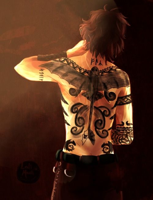 "*Gasp* ""You got a tattoo?!"" -- ""U, I can do that...... cuz I'm chief...?"" (Also the only artist on berk besides Valka)"