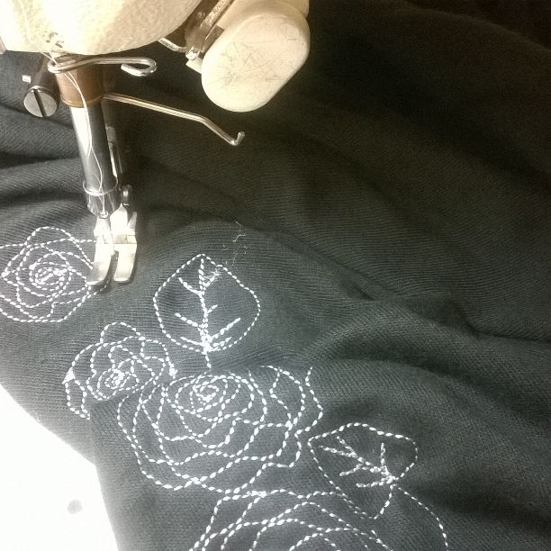Lots of free style embroidery happening around here lately!