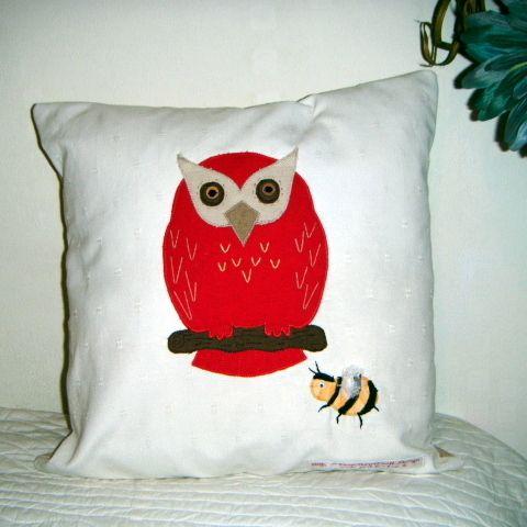 Personalised Owl Cushion £22.50