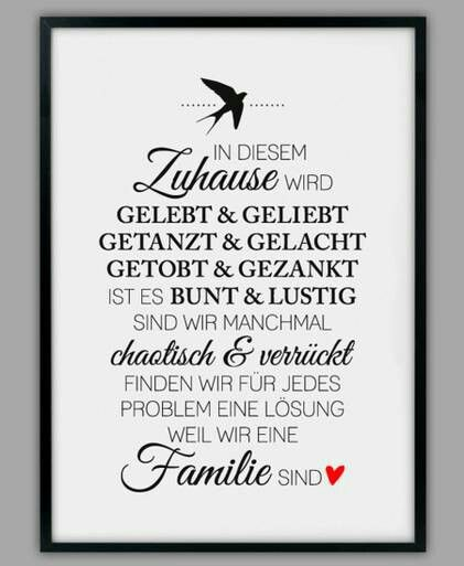 In diesem Zuhause... Wunderschöner Spruch. Als Kunstdruck hier zu kaufen: http://www.smart-art-kunstdrucke.de/über-uns