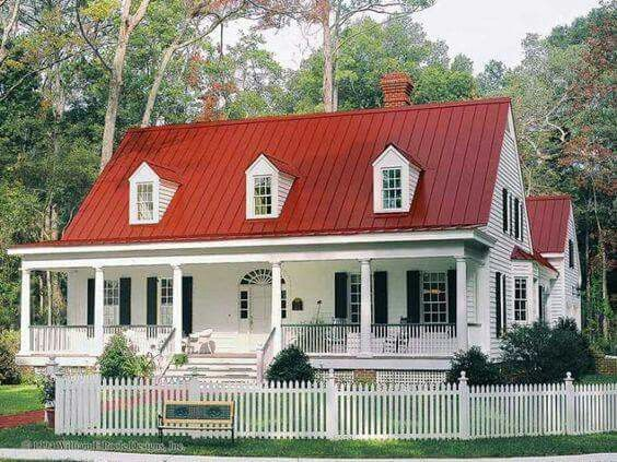 Red roof, ..beautiful porch