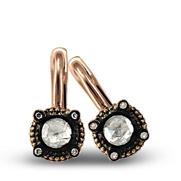 0.14 Cts Diamond solitaire earrings by Zen Diamond---------Zen Pırlanta 0.14 ct Elmas tektaş Küpe