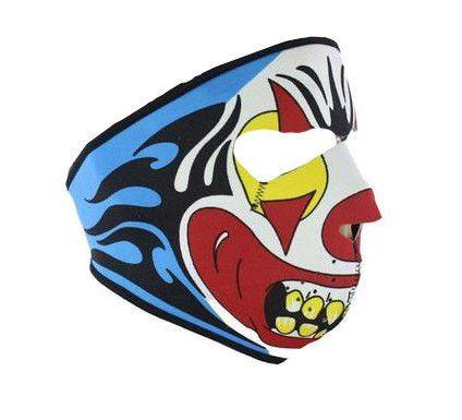 Neoprene Evil Clown Mask