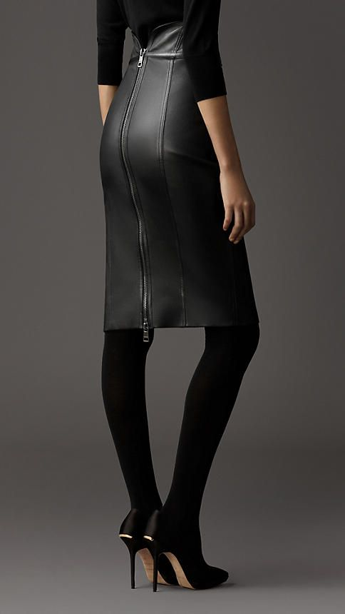 Leather Pencil Skirt ~ Burberry