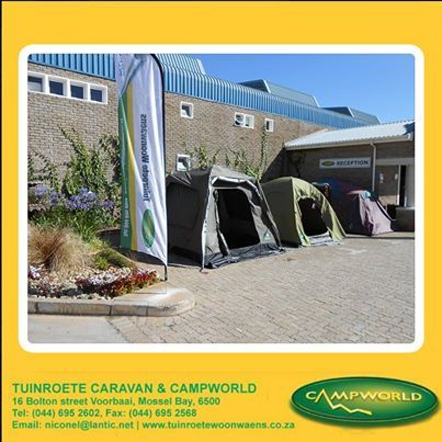 Tuinroete Woonwaens Campworld MB is your one stop outdoor shop in the Garden Route. We stock everything that you might need for camping as well as the day out with the family. Visit our store in Voorbaai. #outdoors #lifestyle