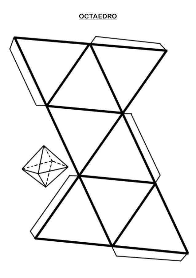Resultado de imagen para octaedro para armar