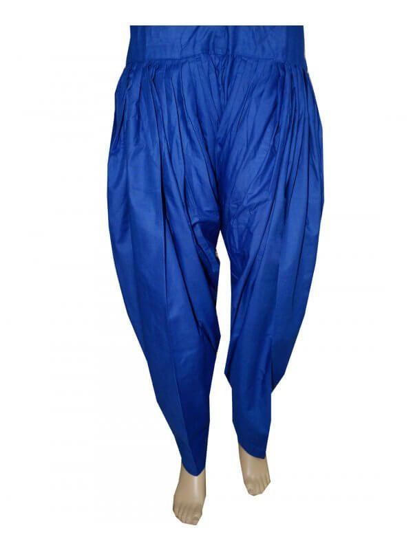 Blue Patiala Salwar online at best price  Patiala Salwar Direct from Patiala    Cotton Metrial 3 Meter Patiala Salwar    Length 39 Inch    Free Size    Wash Care - Soft Wash  Shop Now ; https://www.punnjab.com/blue-patiala-salwar-jsp1042