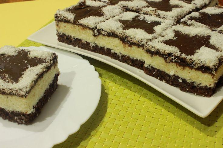 Jeftin kolač sa kokosom - Coconut Cake Recipe - Eng Sub
