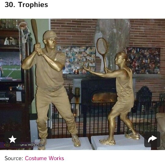 Trophies. So clever! Could also be statues