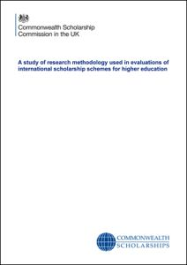 CSC. 2014. A Study of Research Methodology Used in Evaluations of International Scholarship Schemes for Higher Education. London, Commonwealth Scholarship Commission.