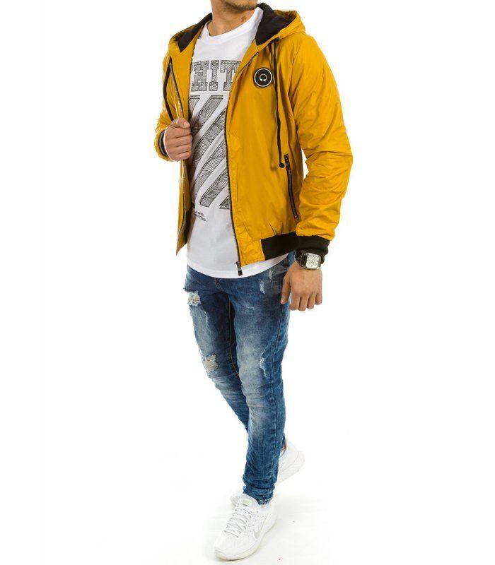 Pánska prechodová žltá bunda
