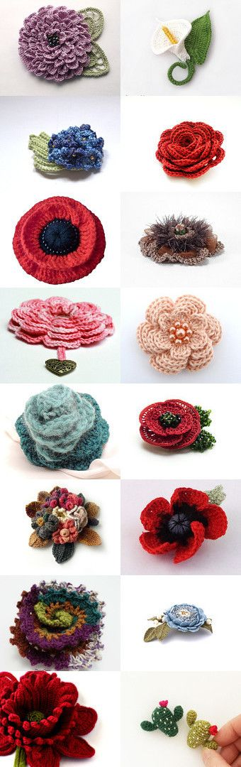 maRRose - Treasury Tuesday - Crochet Flowers by Marianne Dekkers-Roos on Etsy