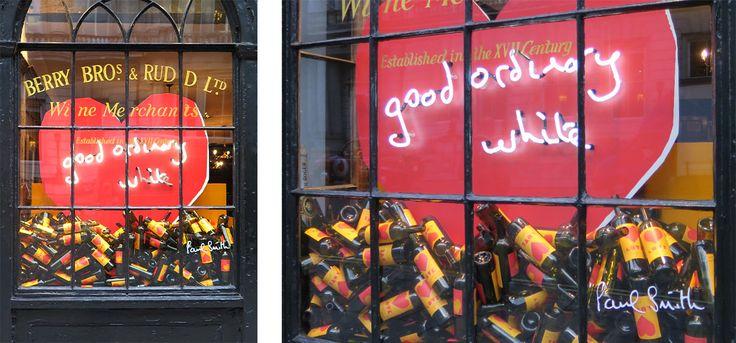 BBR wine merchant window display neon heart sign