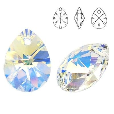6128 Mini Pear 10mm Crystal AB  Dimensions: 10,0 mm Colour: Crystal AB 1 package = 1 piece