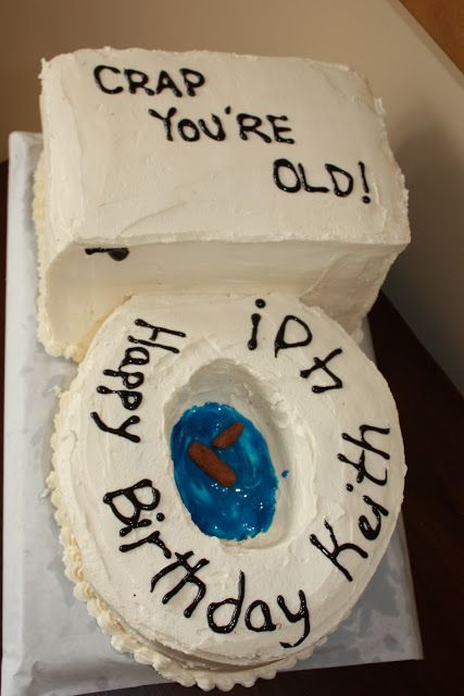 40th Birthday Toilet Cake ~ Gotta love the realistic looking floater.