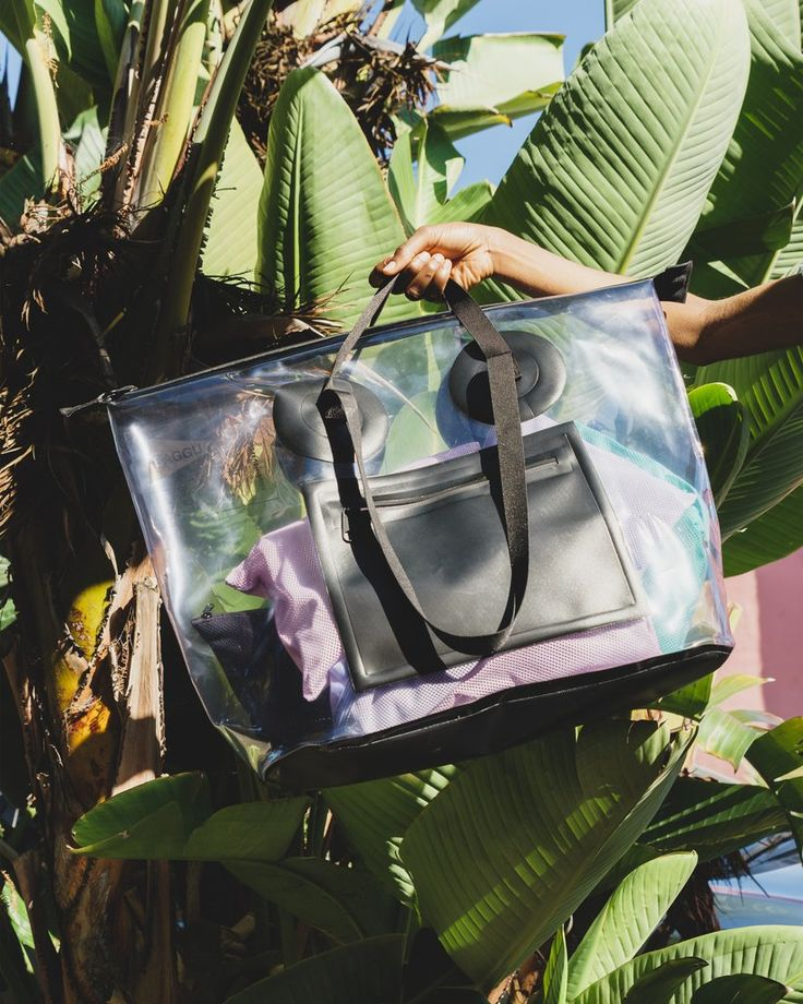 All Weather Bag in Transparent: The ultimate all-weather travel or gear bag. Originally designed with our Brooklyn neighbors Pilgrim Surf and Supply, for surfers to tote their wet gear without leaking.