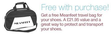 Free bag with your wide fitting bunion relief shoes, boots and sandals at Meanfeet, www.meanfeet.co.uk