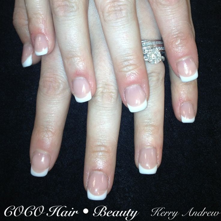 Sculptured french squoval acrylic nails acrylic pinterest