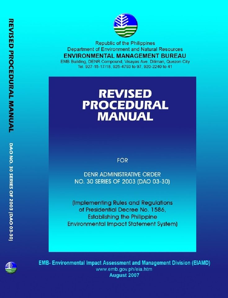 Revised Procedural Manual DAO 03 30 (With Annexes) | Environmental Impact Assessment | Natural Environment