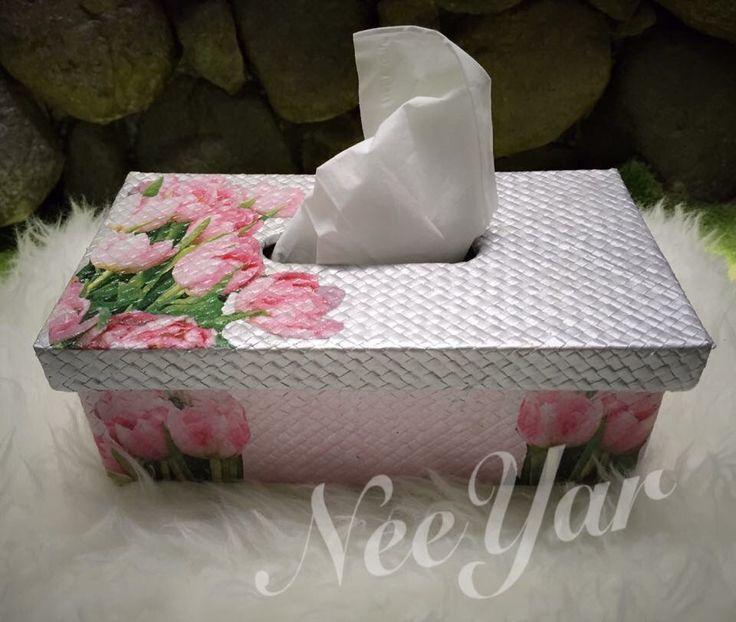 Tissue box decoupage