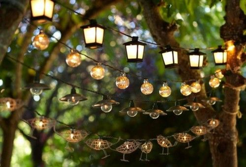 "A decorative way to ""light up"" your outdoor party"